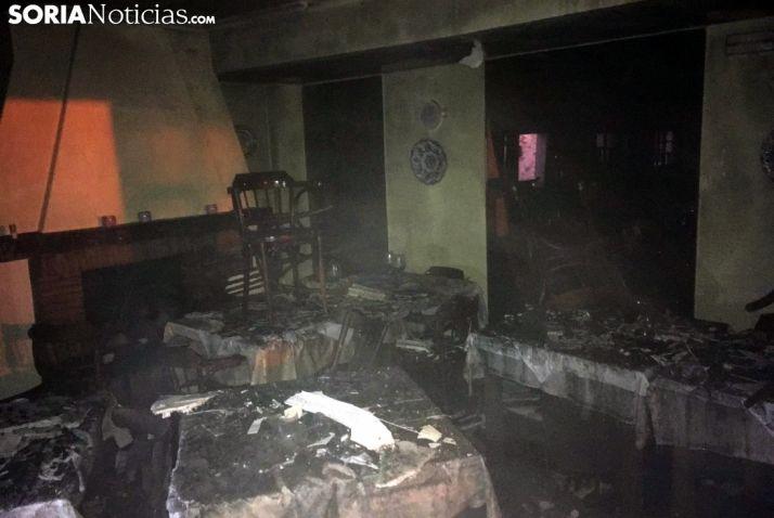 Interior del restaurante tras el fuego. /SN