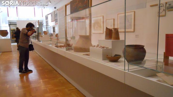 Foto 1 -  La muestra 'Schulten y el descubrimiento de Numancia', una semana más