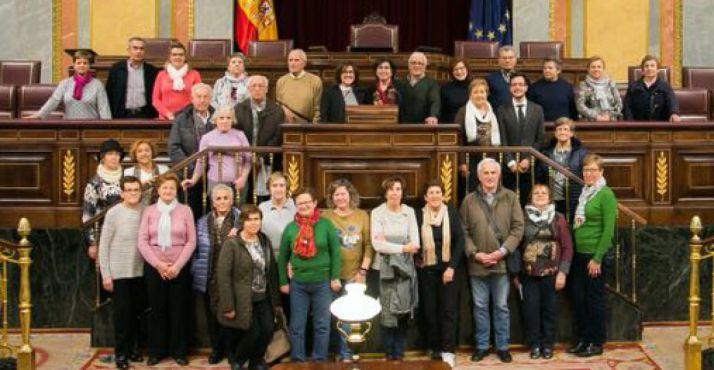 Una imagen del grupo en el Parlamento.