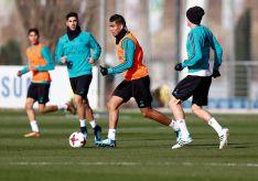 Entrenamiento previo del Real Madrid antes de viajar a Soria. Real Madrid.