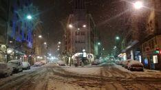 La nieve en la capital. Sergio Garcia