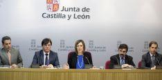 Milagros Marcos, con los presidentes de las cuencas hidrográficas de CyL.