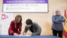 González, junto a Silvia Clemente y César Millán. /Cortes CyL