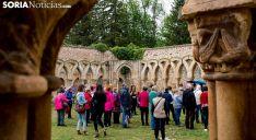 Un grupo de visitantes a los Arcos de San Juan de Duero. /SN