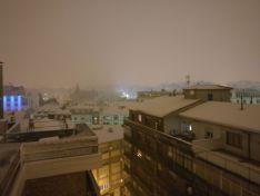 La nieve en la capital. Ángel Ortiz