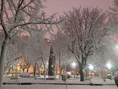 La nieve en la capital. Beatriz Cascante