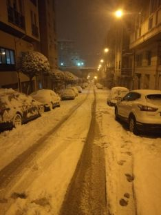 La nieve en la capital. David Ferreiro