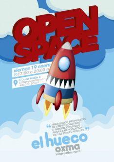 Cartel del 'Open Space' de El Hueco Oxma