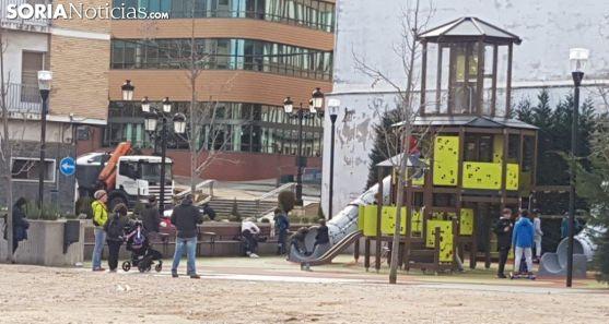 Parque infantil en Ólvega