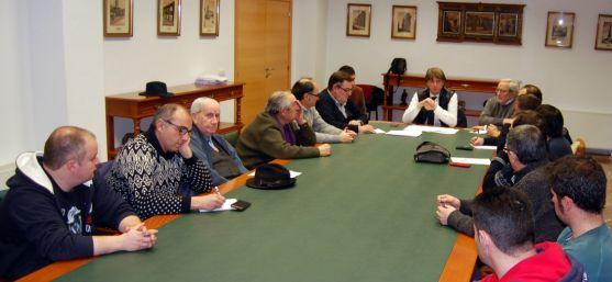 El Consejo Asesor Taurino reunido esta tarde de miércoles en el ayuntamiento.
