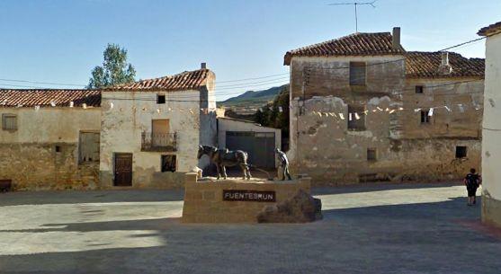 Imagen de la plaza Mayor de Fuentestrún./GM
