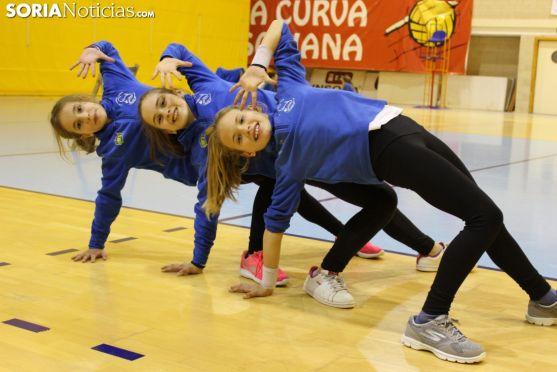 Entrenamiento del CD Gimnasia Soria en el Pabellón Los Pajaritos. Bernat Díez.