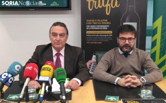 Anselmo García, presidente de Soriactiva, y Eduardo Munilla, resp. Márketing de Caja Rural de Soria.