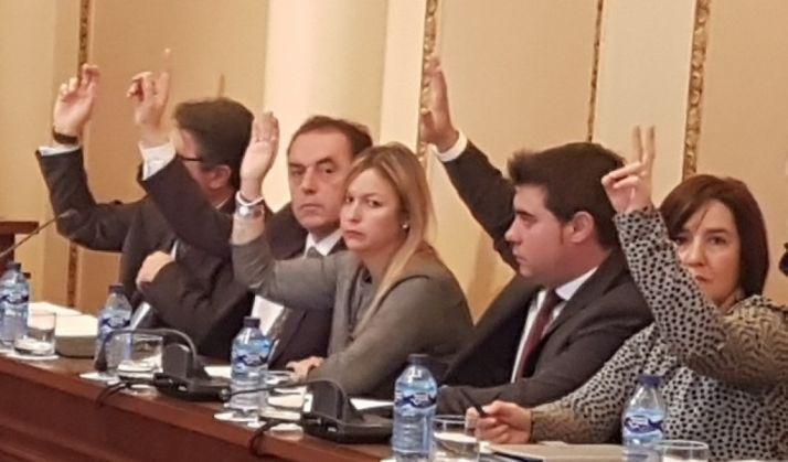 Diputados del PP en el pleno de diciembre