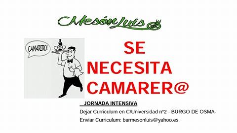 Foto 1 - Se busca camarero en El Burgo de Osma