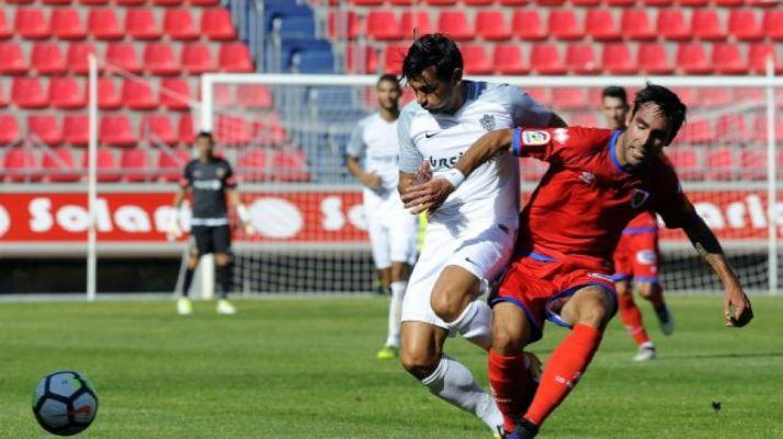 Partido correspondiente al Numancia-Almería de esta temporada en Los Pajaritos. LaLiga.