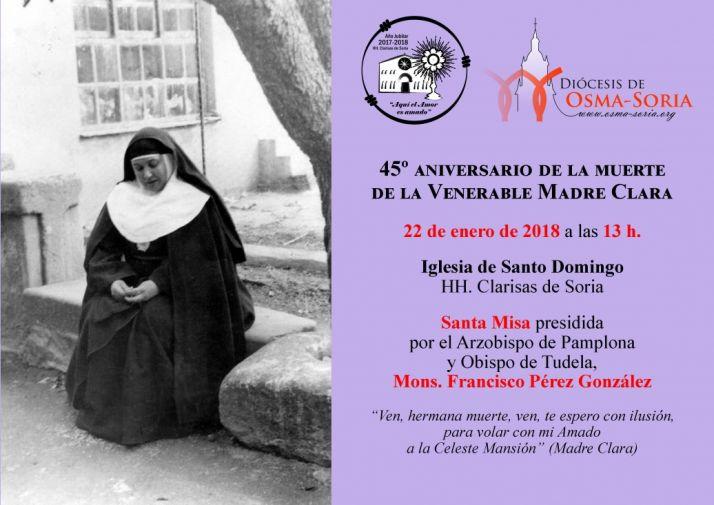 Foto 1 - La Diócesis celebra este lunes 22 el 45 aniversario de la muerte de la Venerable Madre Clara