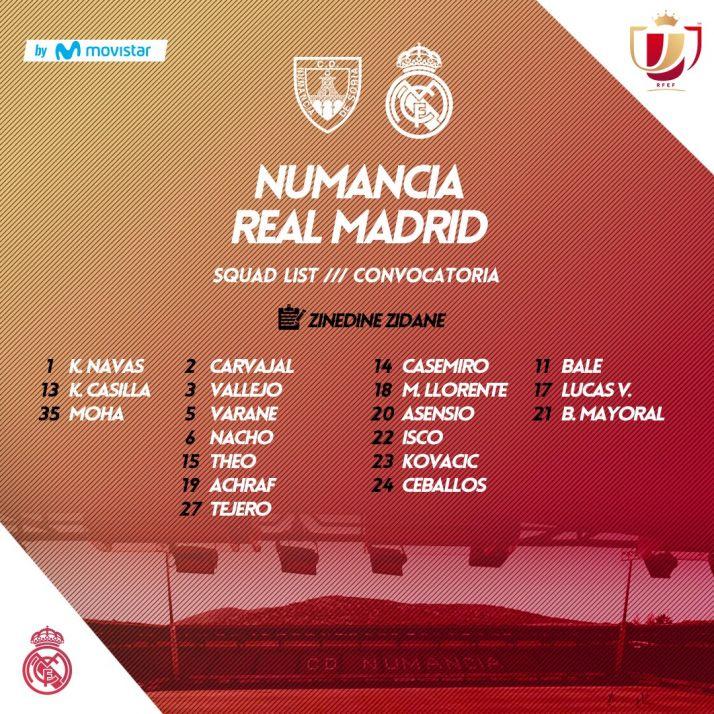 Confirmado: El Real Madrid viaja a Soria sin Cristiano, Benzema ni Ramos