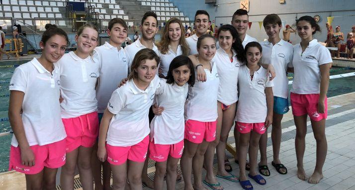 Foto 1 - El Club Natación Soriano, subcampeón en Segovia
