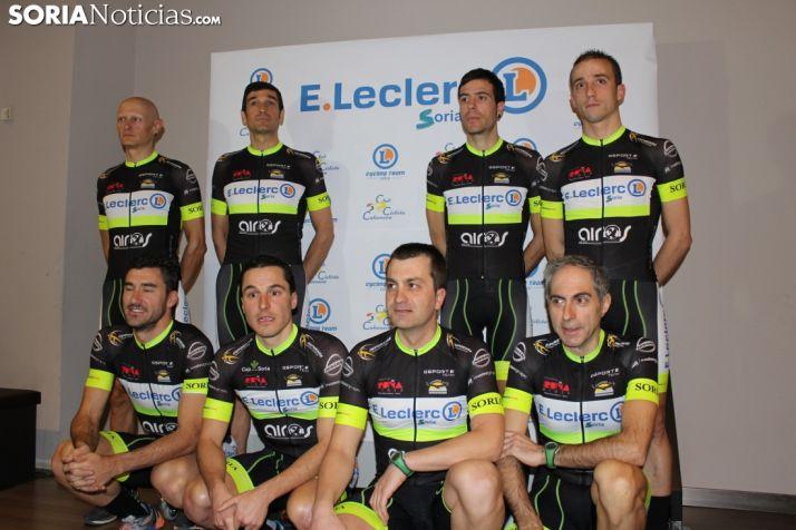 Presentación oficial del E.Leclerc Soria Cycling Team. Bernat Díez.