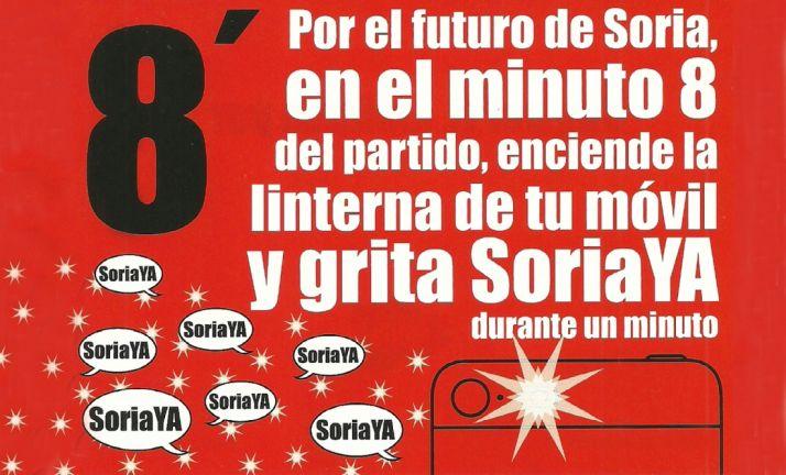Dos mil luces acompañarán este miércoles el grito '¡Soria, ya!' en el Bernabéu