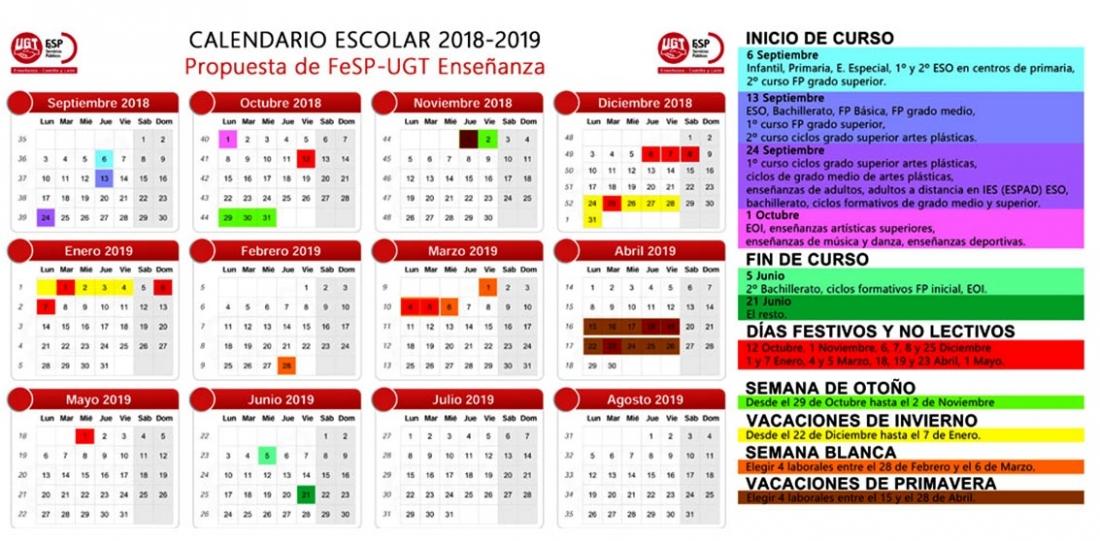 Calendario Santoral.Ugt Propone Que El Calendario Escolar No Se Cina Al Santoral