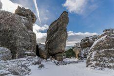 La nieve viste de blanco el paraje de Castroviejo durante estos días.