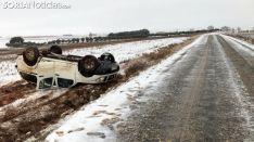 Imagen de un accidente este miércoles cerca de Aldealafuente. /SN