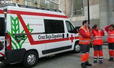 Una ambulancia donada por la Caja Rural de Soria a la Cruz Roja en la provincia. /SN