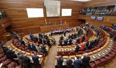 Imagen de sede parlamentaria regional este lunes.