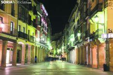 El Collado, de noche. Soria Noticias.
