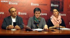 Rafael Laguens, Ana Alegre y Ángela Mancheni este lunes en rueda de prensa./SN