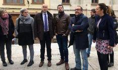 Tudanca, en el centro, entre Alonso y Rey, con Barcones (dcha.), Villar y Delgado (izda.). )