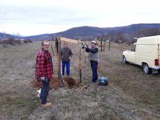 trabajos comunitarios en Hinojosa de la Sierra.