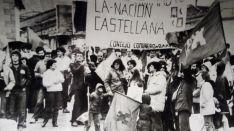 Imagen histórica en tiempos del impulso del Estatuto de Autonomía.