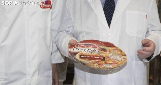 Una pizza elaborada en la factoría de Ólvega. /SN