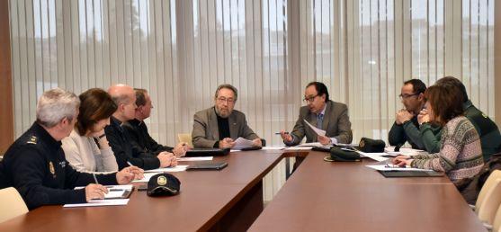 Reunión del Comité Territorial de Seguridad de Soria este martes. /Jta.