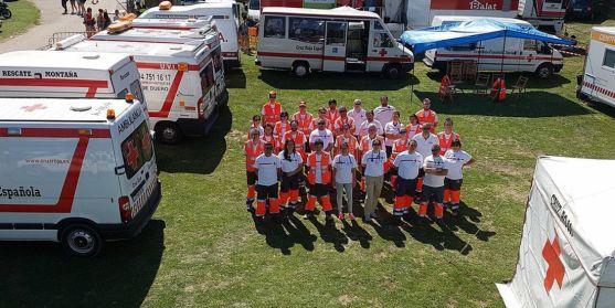 Un dispositivo de Cruz Roja en Valonsadero. /CRS