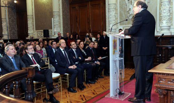 Herrera, durante su intervención en Palencia. /Jta.