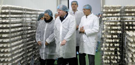 Herrera, este miércoles en una fábrica de Zamora.