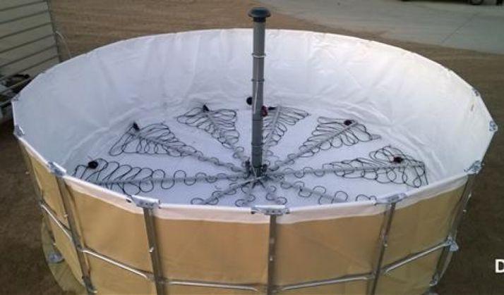 [Fotobiorreactor diseñado por la Universidad de Valladolid. UVa.