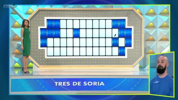 "Foto 1 - ""3 de Soria"" en el panel final de La Ruleta de la Suerte"