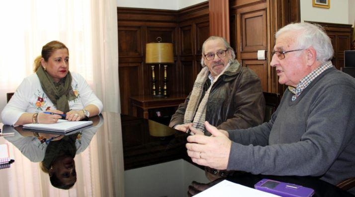 La subdelegada, con Domínguez y Alonso.