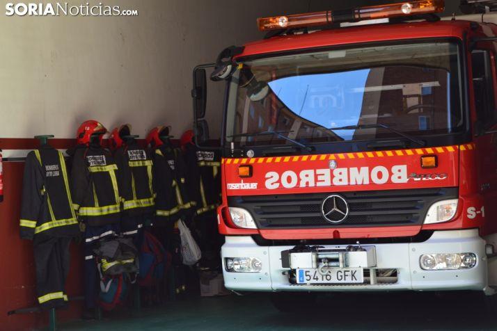 Vehículo de los Bomberos de Soria. Soria Noticias.