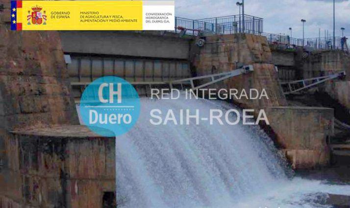 Imagen de la presa de Buitrago, en la nueva web.
