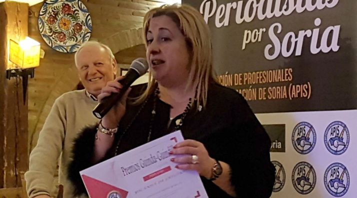 Yolanda de Gregorio en su intervención en la velada de los premios.