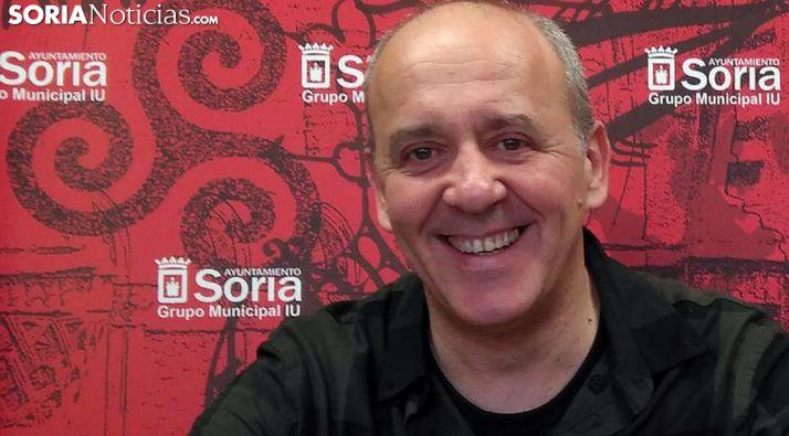 Enrique García, concejal de IU, este lunes. /SN