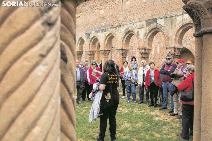 Los Arcos de San Juan de Duero durante una visita guiada. Soria Noticias.