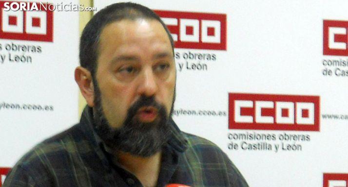 Javier Moreno, secretario general de CC OO en Soria. /SN