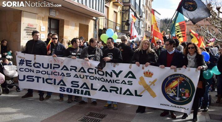 Manifestación en la capital por la equiparación salarial el pasado día 18. /SN